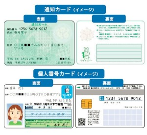 マイナンバー通知カードのイメージ